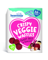 Crispy Veggie Waffle Beetroot and Shallot Baby Food - Heavenly Tasty Organics