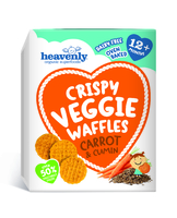 Crispy Veggie Waffles Carrot & Cumin Baby Food - Heavenly Tasty Organics
